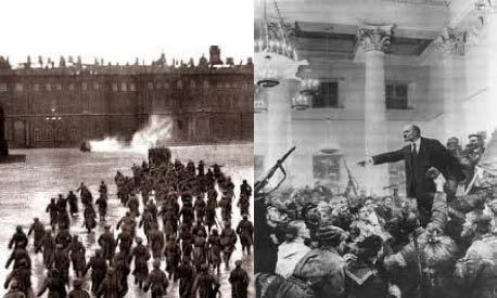 During the night of November 6th, the Bolsheviks attacked the Winter Palace in St. Petersburg, where the provisional government met, and took power. The government quickly collapsed.
