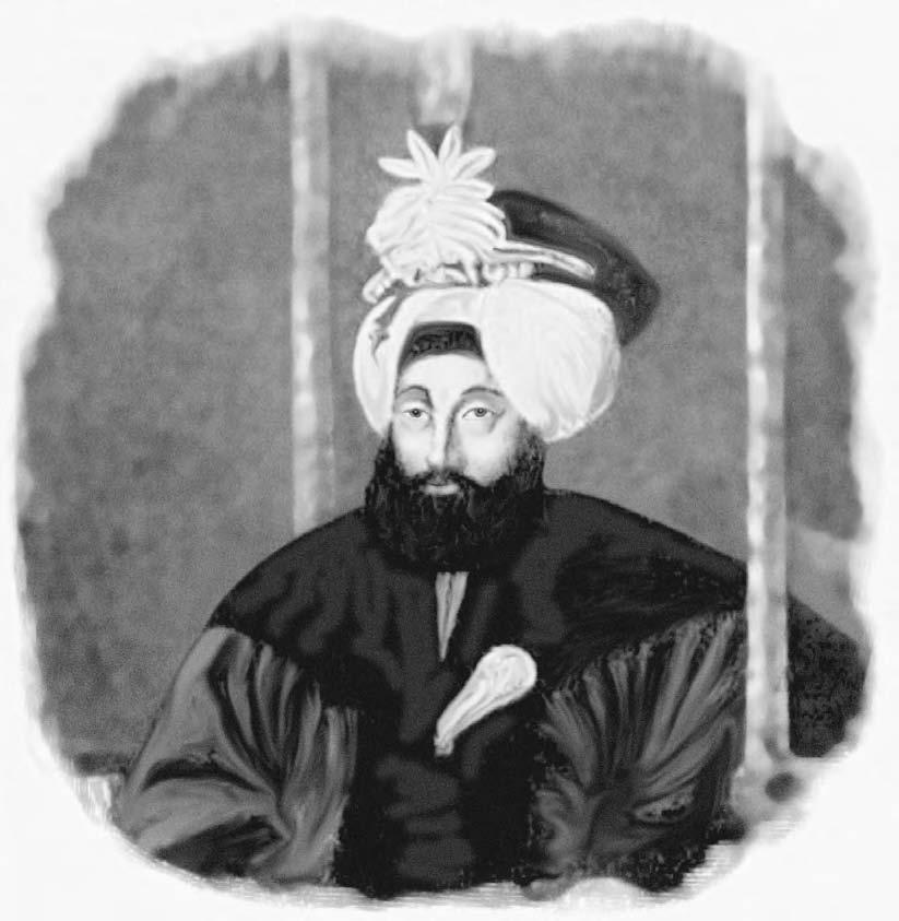 162 MAIMANA Mahmud Shah, Amir of Afghanistan from 1800 to 1803 and again from 1813 to 1829, when he was poisoned by his son (Perry- Castaneda Library) trappings of a ruler while his son Kamran held