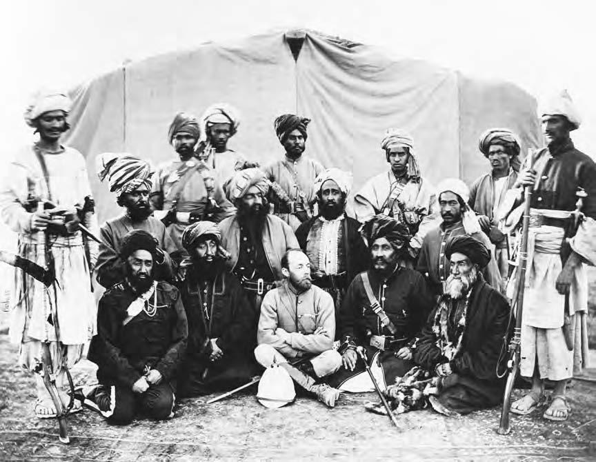 46 CENTRAL INTELLIGENCE AGENCY AND ITS SUPPORT FOR THE MUJAHIDEEN Sir Pierre Louis Cavagnari, British envoy to Afghanistan, photographed on his way to Kabul in July 1879.