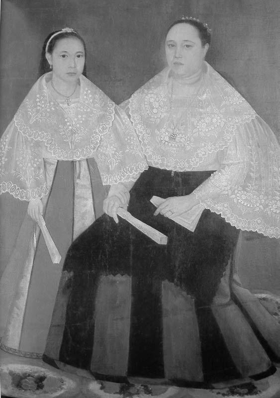 Defining The Filipino Woman in colonial Philippines 43 Figure 2.3 Two women in Maria Clara Dress. From the book by J. Moreno, Philippine Costume, Manila: J. Moreno Foundation, 1995.