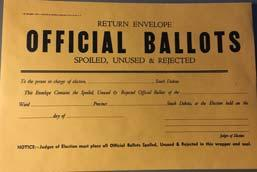 BALLOTS IN THE BALLOT BOX ABSENTEE BALLOT PROCESSING Process absentee ballots whenever you have time during election day or immediately after the polls close.