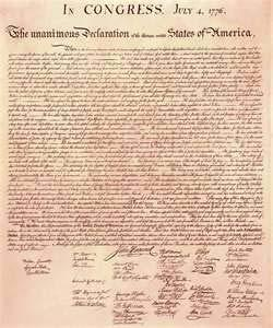 The Declaration of Independence Thomas Jefferson drafted the Declaration of Independence. He was influenced by men like John Locke and the Enlightenment.