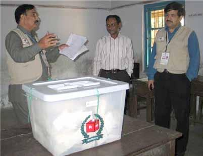 7 Elections in Bangladesh 2006-2009: the EWG reportedly deployed approximately 155,000 domestic observers for the 2008 elections.