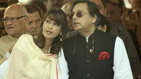 Former Union Minister of State for Human Resource Development Shashi Tharoor and his late wife Sunanda Pushkar during an event. Sunanda when she was taking pills to overcome depression.