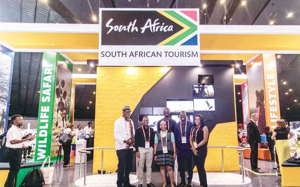 60 TOURISM Saturday, May 26, 2018 Africa s Travel Indaba: Tourism In Africa Geared Towards New Heights West African Delegates with team South African Tourism (West Africa) TAYO ADELAJA Tourism in