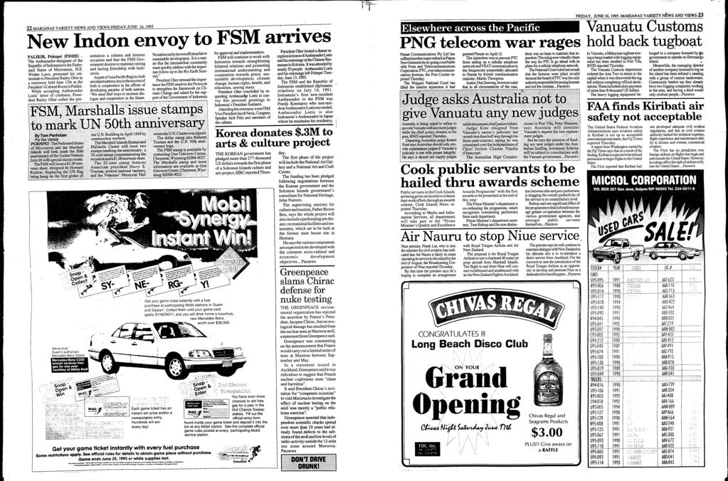 22-MARANAS VARETY NEWS AND VEWS-FRDAY-JUNE 16, 1995.
