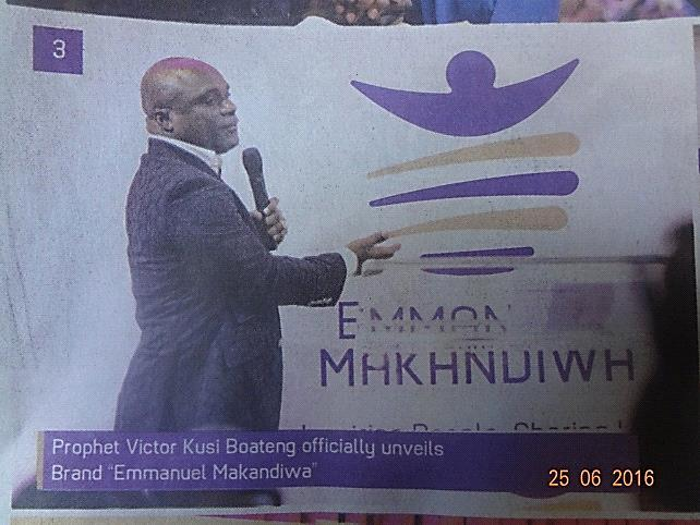 Picture 5:10 Leader of UFIC at a launch to unveil Brand Emmanuel Makandiwa Source: The Sunday Mail 18.06.