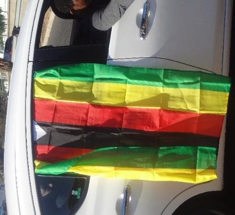 Picture 7:9 Appropriation of Zimbabwean national flag by young citizens and redeployed as subversion tool Source: ResearcherThe Pastor s fart Picture 7:10 Twitter reaction to
