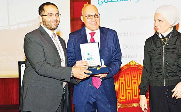 Consultant and Clinical Director of the Digestive Disease and Endoscopy Department at the hospital Dr Mahmoud Omar and Professor of Medicine at Kuwait University Dr Jaber Al-Ali chaired the