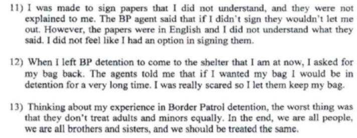 right to see an immigration judge, the supervisory Border Patrol agent told him that seeing a judge would be a waste of time because the judge would deport the minor without asking any questions.