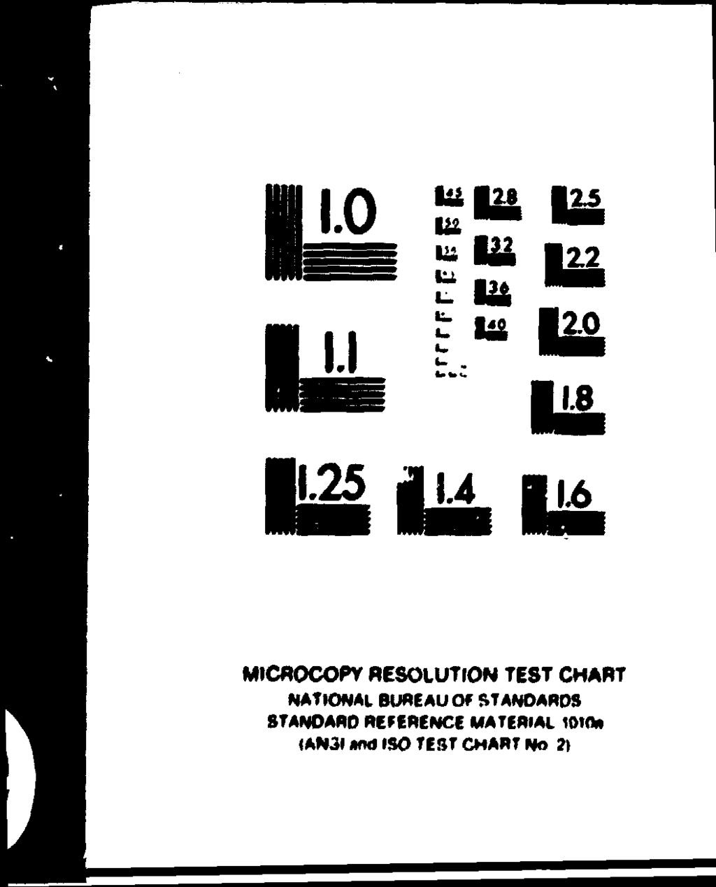 MICROCOPY RESOLUTION TEST CHART