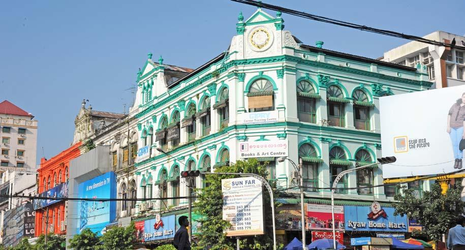 Art scene finds new home in old landmarks As works of art themselves, it s no surprise that some of Yangon s famous colonial buildings have been turned into galleries showcasing the works of both old