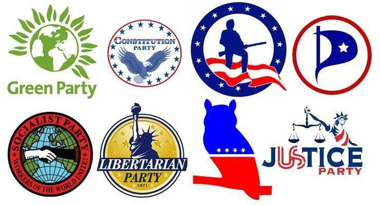 THIRD PARTIES *Any party other than Democrats and Republicans.