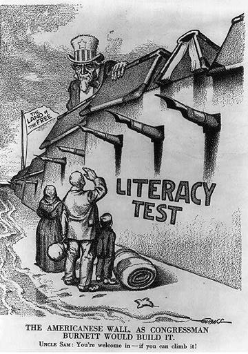 LITERACY TEST Some sates required voters to pass a literacy test to qualify to vote Effected
