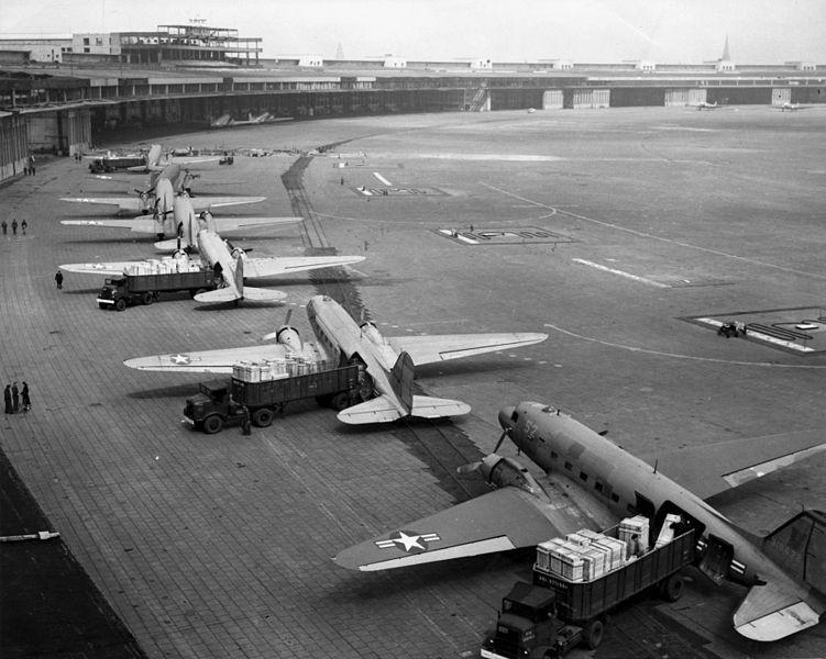 The Berlin Airlift: In the attempt to break the blockade, American and British officials started the Berlin Airlift to fly supplies into western