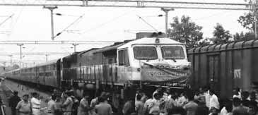 eople of Deogaon under the Pbanner of the Gramya Unnayan Committee and the Merchants Association, staged a Rail Roko at the Deogaon railway station, 20 km from here, demanding stoppage of express