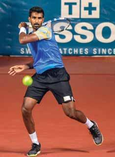 The lone Indian in fray in the men's singles event, Prajnesh Gunneswaran, settled for a Bronze after losing 2-6, 2-6 to Uzbekistan's Denis Istomin in a semifinal that was much more competitive than