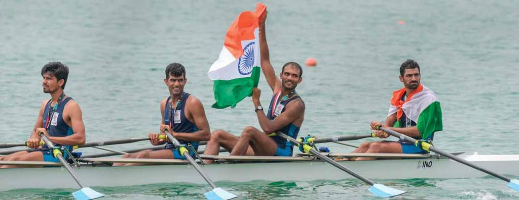 starting as the favourite. The other members of the triumphant team were Sukhmeet Singh, who like Sawarn is from Mansa district in Punjab, and Om Prakash.