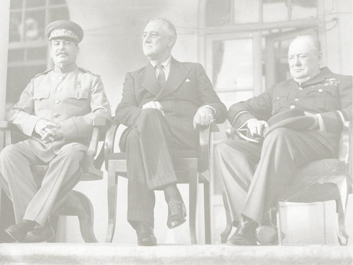 The Big Three Meet FDR had previously met with Churchill and signed the Atlantic Charter Outlined a permanent system of security that would become the basis of the United Nations They meet with