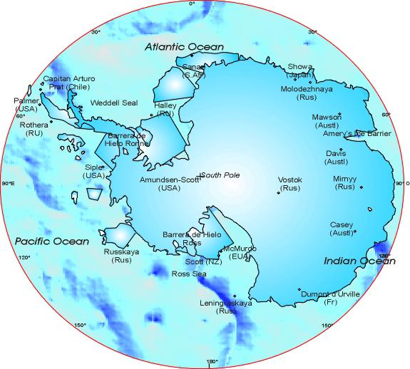 Antarctic Region: to