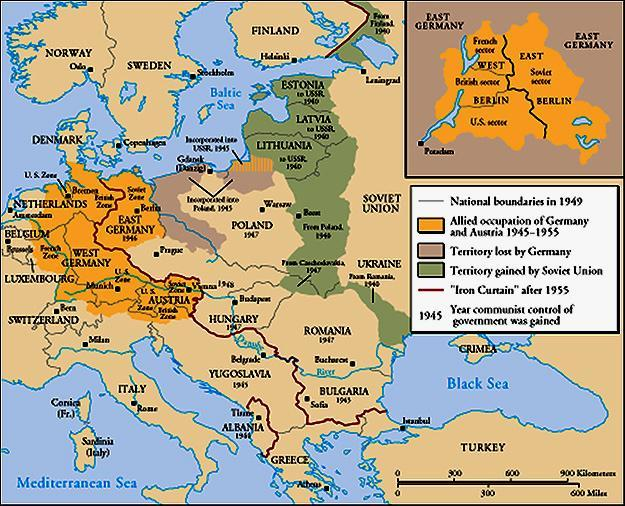 Europe Divided From Stettin in the Balkans, to Trieste