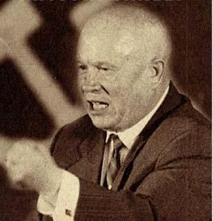 Premier Nikita Khrushchev Stalin dies in 1953 Nikita Khrushchev emerges as the leader of the Soviet Union About the capitalist states, it doesn't depend on you whether we (Soviet Union) exist.