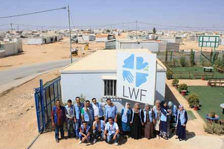 LWF Jordan 2012-2016 Report Peace Oasis Zaatari Camp is host to almost 80,000 Syrian refugees who were forced to flee their homes in the midst of violence and war.
