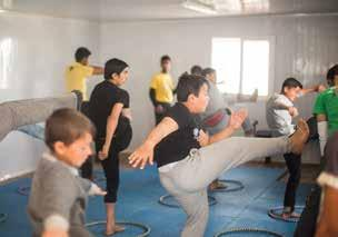 Financial Overview Capoeira in Peace Oasis In 2016, LWF Jordan began partnering with Capoeira 4 Refugees, a non-profit organization that uses music, movement, singing and dialogue to help strengthen