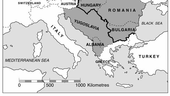 Source: A map of Europe in 1950 Yugoslavia and Albania were communist countries but not aligned to the Soviet Union 1 Using the