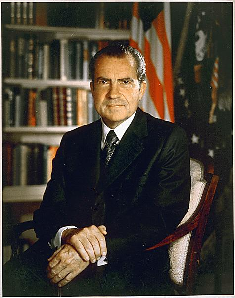 Richard Nixon President of the U.S. from 1969-1974.