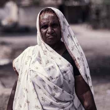 Baadam bai is known as the neta or leader in her village in Neemach district. Baadam bai began manual scavenging as a young girl, and continued after she got married.