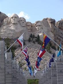 MOUNT RUSHMORE Mount Rushmore is in South Dakota.