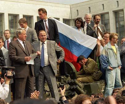 Yeltsin was a hero and the natural choice for the first democratic president of Russia.