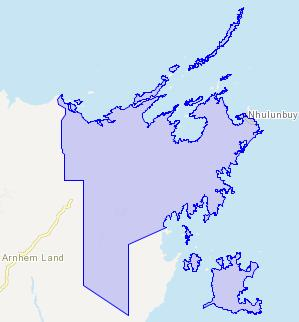 Figure 3: East Arnhem Shire (LGA) SOURCE: ABS, MapData Services 1.2.
