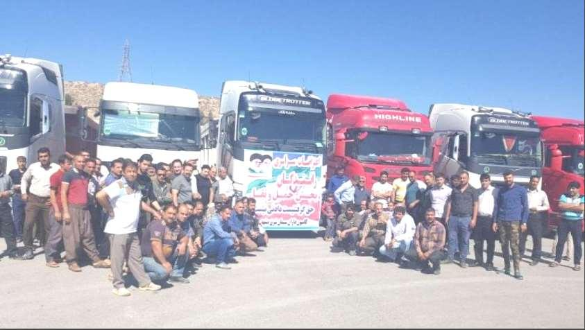 Alternative Workers News-Iran No. 74- P. 6 Drivers and Truck owners want to see the implementation of their three demands by the authorities in action.
