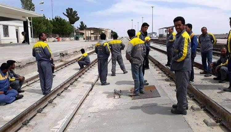 Alternative Workers News-Iran No. 74- P. 7 A New Round of Protest of Railroad Workers Railroad workers began a new round of protest on Sept. 29th. The protest began because their payments were behind.