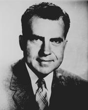 Congressman (later Senator) from CA Became famous for prosecuting Alger Hiss Red Baiter gutter