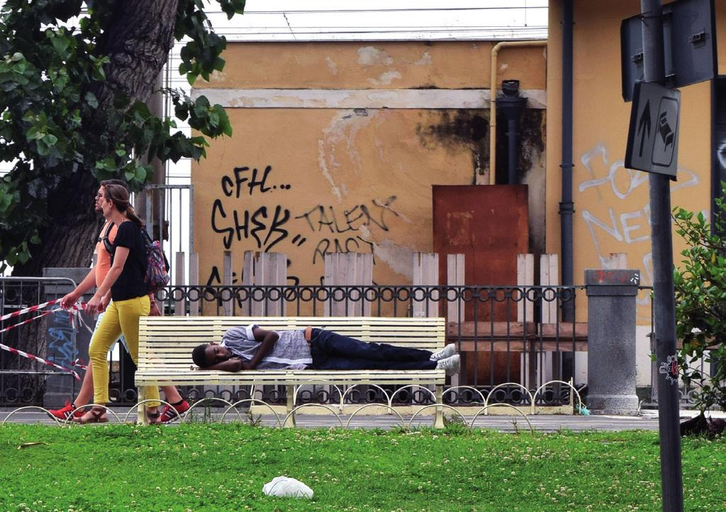 20 20 Country offices JRS europe Annual Report 2014 A young migrant sleeps on a bench outside the railway station in Catania,