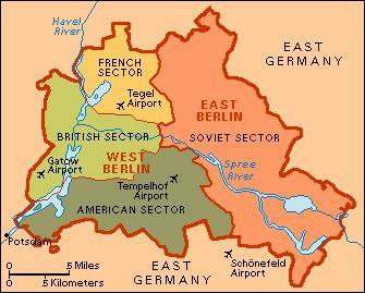 THE DIVISION OF GERMANY Germany was occupied & divided into 4 Allied sectors Soviet British French American Later British, French, &