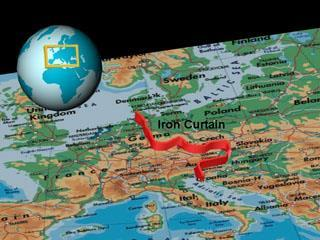 The Iron Curtain A phrase coined by Winston Churchill in 1946 it refers to the division