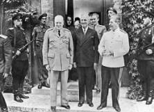 Yalta Conference The Big Three meet Churchill, Roosevelt and Stalin Divided Germany into four zones Problem: Poland!