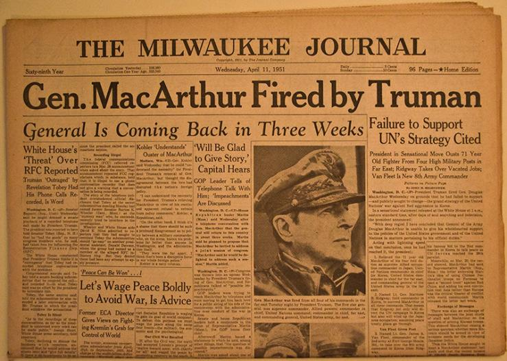 The United States Fights in Korea{continued} MacArthur Recommends Attacking China MacArthur calls for war with China; Truman rejects request Soviet Union and China have mutual assistance pact UN,
