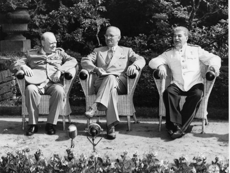 decisions he was not told about the atom bomb The Potsdam Conference: The Big Three- Clement Attlee, Truman and Stalin