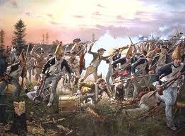 Battle of Saratoga British troops reached Saratoga from Quebec and were surrounded and severely outnumbered = Surrendered Huge military victory, and