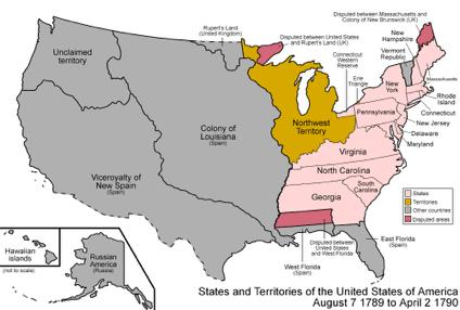 Northwest Ordinance 1787 Major achievement by Confederation Congress Plan for selling & governing new land West of the Appalachian Mountains & North of the Ohio