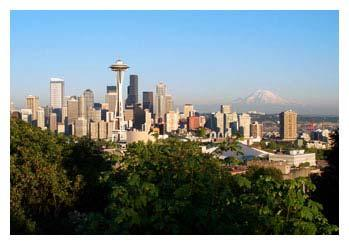 Seattle Washington State s largest city. Most famous architectural landmark is the Space Needle.