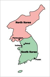 KOREAN WAR Soviet controlled U.S. controlled In 1950, communist North Korea invaded South Korea.