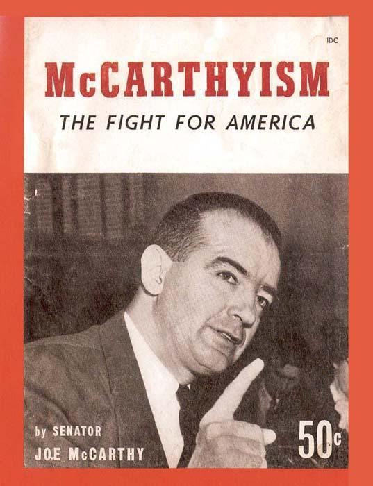 MCCARTHY LAUNCHES WITCH HUNT Republicans accused the Democrats of being soft on communism The most famous anti-communist activist was Senator Joseph McCarthy, a Republican from