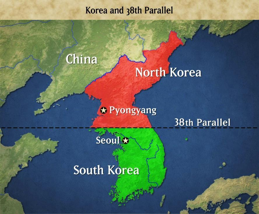 KOREA North Supported by: China/Soviet