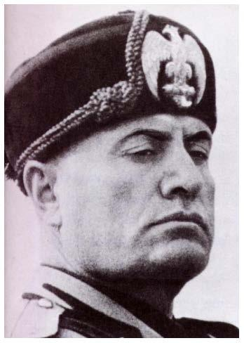 Benito Mussolini Born in Italy in 1883 Established the Fascist Party in Italy in 1921.